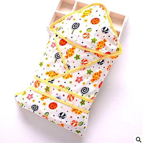 Artic Winter Liner (Musselin, Premium Decken | Super Soft Baumwolle | perfekter Babyshower Geschenk Größe: Länge 80cm, unterer Saum 80cm, Anzug Jahr: 0–6Jahre Yellow lollipop 80cm*80cm)