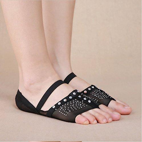 YYAANNGG, Scarpette da ballo Scarpette da ballo per adulti Scarpe da ballo di diverse dimensioni Allenamento professionale Scarpe antiscivolo Calzature antiusura Black