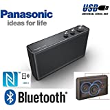 PANASONIC SC-NA30EB-K DEDICATED BASS BIG SOUND 20W WIRELESS SPEAKER WITH BLUTOOTH and NFC / SMART PHONE CHARGE VIA USB / 20 HOURS PLAYBACK WITH BUILT IN RECHARGEABLE BATTERIES. BUILT IN HANDS FREE SMART SPEAKER PHONE.