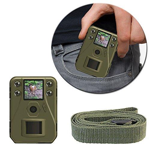 AMG Sicherheitstechnik Wildkamera, 12 MP Full HD, mit unsichtbaren 940nm Infrarot LEDs, batteriebetrieben, grün