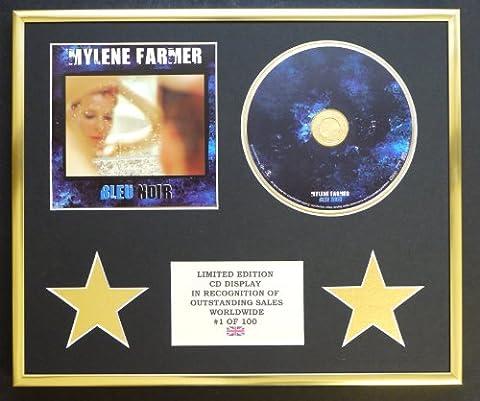 MYLENE FARMER/CADRE CD/EDITION LIMITEE/CERTIFICAT D'AUTHENTICITE/BLEU NOIR