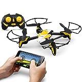 KAI DENG K90 WiFi Mini Drone télécommandé WiFi avec caméra 0.3MP, 3D Flip Rolls,...