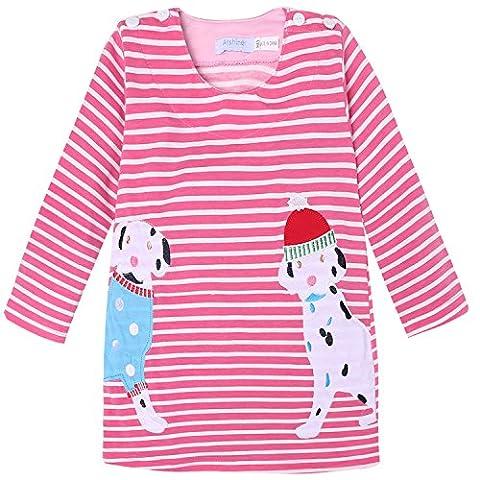 ZEARO Mädchen Kinder Hoodie Strick Pullover Jacke Langarm Sweat Shirt 110