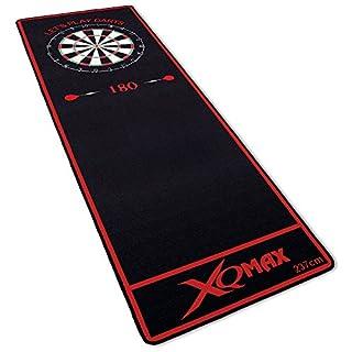 TW24 Turnier-Dartmatte rot/schwarz 237x80cm - Dartteppich - Dart Turnier Matte mit offiziellem Spielabstand
