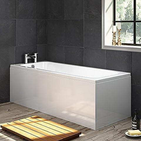 1700mm Luxury Large Single Ended Bath Straight Bathroom Bathtub Panel