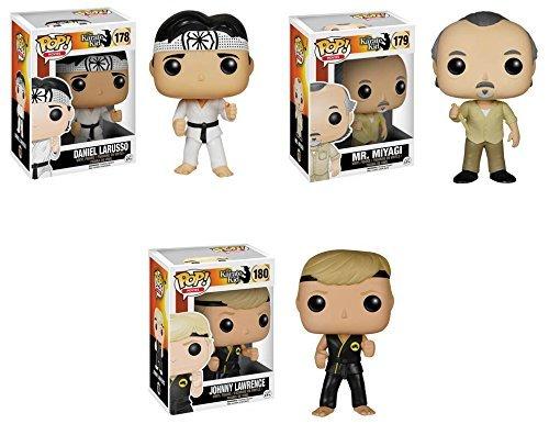 Karate Kid Mr. Miyagi, Daniel LaRusso and Johnny Lawrence Pop! Vinyl Figures Set of 3 by Karate Kid