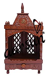 Aarsun Hand-carved Temple / Mandir in Mango Wood Z5A