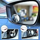Toter-Winkel-Spiegel ohne Rahmen aus HD-Glas, konvex, Weitwinkel, 360° drehbar, verstellbarer Rückspiegel für alle Autos, SUVs, LKWs, Motorräder, 2-er Pack