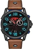 Diesel Herren Digital Smart Watch Armbanduhr mit Leder Armband DZT2009