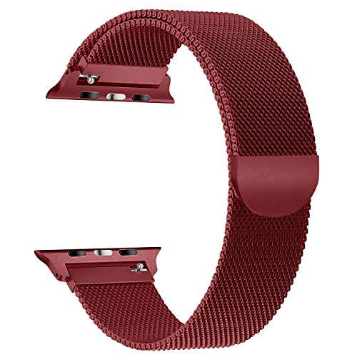Vodker per apple watch cinturini 38mm 42mm loop in maglia milanese acciaio inossidabile con chiusura magnetica regolabile bracciale per iwatch apple watch series 3 series 2 series 1