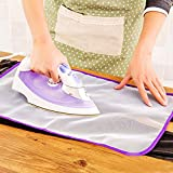 Go Hooked Protective Press Mesh Ironing Cloth Guard Protector (White)