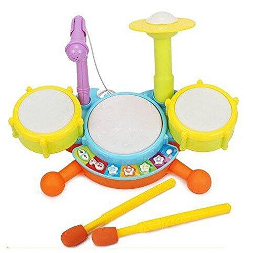 Creation® Bambino bambini Musica giocattolo Mini Developmental Musical Drum Set per i bambini -1
