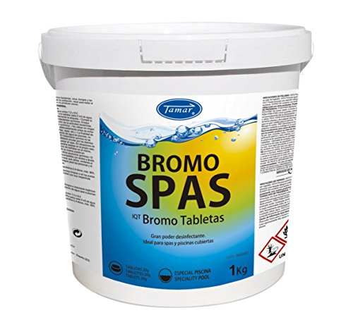 Tamar - Bromo Spas, Tabletas de 20 grs, Especial para Spas/Piscinas cerradas, Bote de 1 Kilo.
