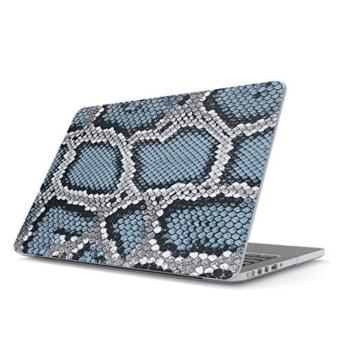 bel für MacBook Pro 15 Zoll Aus Den Jahren 2016/2017/2018, Modell: A1990 / A1707 mit Touch-Bar Blau Schlange Pattern Cobra Snake Print Plastik Case ()