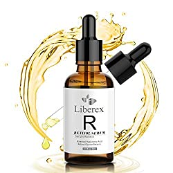 Retinol Serum, Liberex Anti Aging Serum Gesichtsfeuchtigkeitscreme mit Vitamin E, Hyaluronsäure - Für Gesicht, Haut und Hals, Anti Falten, Altersflecken, 50ml