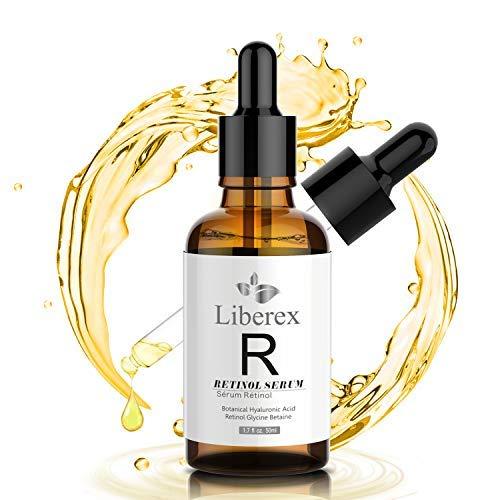 Retinol Serum, Liberex Anti Aging Serum Gesichtsfeuchtigkeitscreme mit Vitamin E, Hyaluronsäure -...