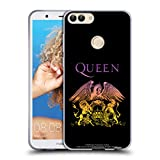 Head Case Designs Officiel Queen Crête De Logo Bohemian Rhapsody Étui Coque en Gel Molle Huawei P Smart/Enjoy 7S