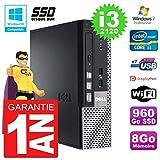 Dell Mini PC 7010 Ultra USFF Core i3-2120 RAM 8 GB 960 GB SSD WiFi W7