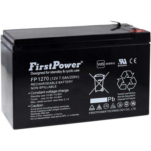 FirstPower Blei-Gel-Akku für USV APC Smart-UPS 750 7Ah 12V, 12V, Lead-Acid