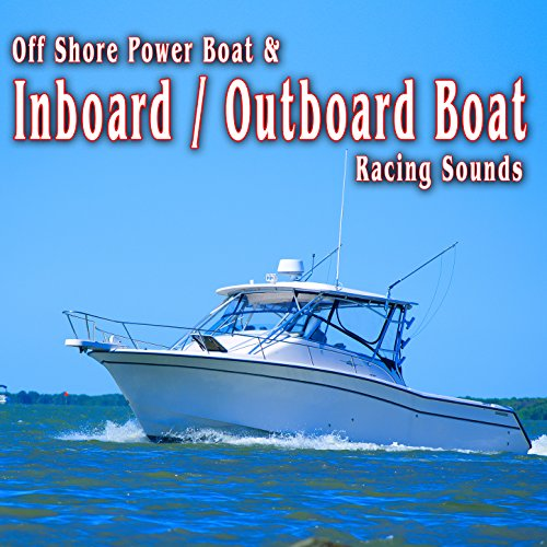 Inboard / Outboard Boat Racing Around the Race Course, Slows Down into the Pits and Shuts off, Recorded from Internal Mic (Outboard Racing)