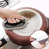 Lunaanco Emery Sponge Brush Eraser Scrub Handle Grip Sink Pot Bowl Herramienta de Limpieza de la Cocina...