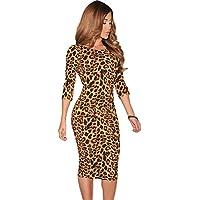 Vestido largo leopardo