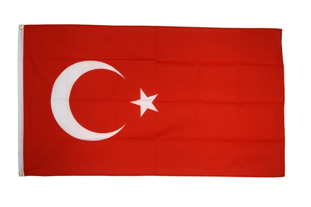 Flaggenfritze Fahne/Flagge Türkei - 150 x 250 cm + gratis Sticker, XXL-Fahne