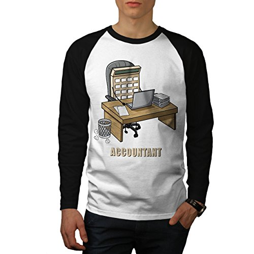 wellcoda Buchhalter Job Männer XL Baseball LS T-Shirt