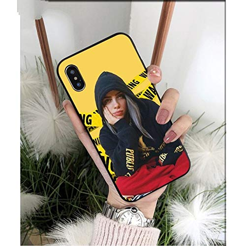 WTSFT Billie Eilish Hot Music Singer Star Photo Soft Phone Case for Apple  iPhone 8 7 6 6S Plus X XS MAX 5 5S SE XR Cellphones,A14,for iPhone 6s Plus