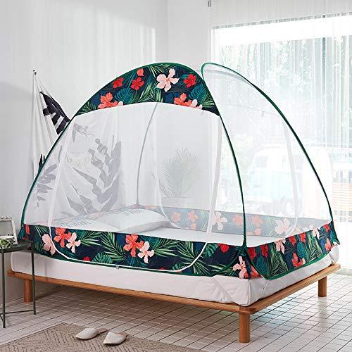 LLSTRIVE Moskitozelt ,,Kostenlose Installation von Moskitonetzen, faltbaren Haushaltsmoskitonetzen, wirksamer Mückenbekämpfung, Sommer-Essentials@Flowers_1.5m (5 Fuß) -Bett