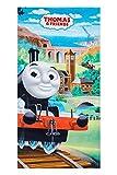 Thomas and Friends Handtuch Strandtuch Thomas Lokomotive für Kinder 70 x 140 cm, 100% Baumwolle