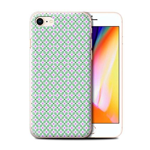 Stuff4 Hülle / Case für Apple iPhone 8 / Turquiose Muster / Windmühle Kollektion Grün