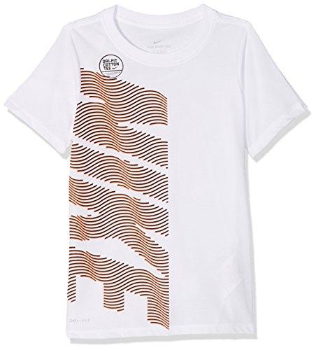 Nike Jungen Dry Therma Kurzarm T-Shirt, White, XL
