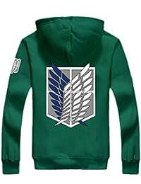 Anime Hoodie Wings of Liberty Vêtements AOT Survey Corps Cosplay Capuche Zip Up Hoody Sweatshirt Costume
