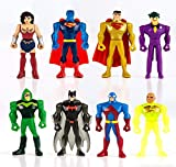 SET COMPLETO 8 Mini Figure 5cm JUSTICE LEAGUE Mighty Minis Serie 2 Personaggi Torta Trading Figures DC Comics Batman Joker Superman Wonder Woman Lanterna Verde