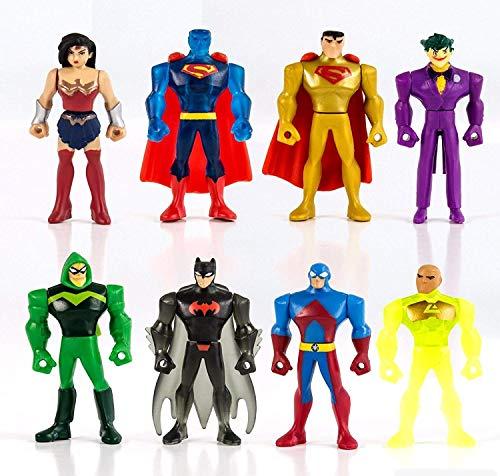 cm Justice League Mighty Minis Serie 2 Originals Trading Figures DC Comics Batman Joker Superman Wonder Woman Cake Topper ()