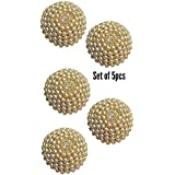 Paushak Boutique Beautiful Fancy Golden Jewellary Buttons in high Quality for Indian Dresses for Kurties,Gowns and Party Wears Dresses (Set of 5)