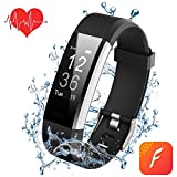 Fitness Trackers Armband Uhr mit Pulsmesser,Wasserdicht Fitness Tracker Aktivitätstracker Pulsuhren Bluetooth Smart ArmbandUhr Schrittzähler mit Schlafmonitor Kalorienzähler Vibrationsalarm Anruf SMS Whatsapp Beachten kompatibel mit iPhone Android Handy