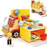 TOP BRIGHT Spielzeug Werkzeug ab 2 Jahren, Werkzeug Spielzeug Kinder Set, Holzspielzeug 2 3 Jahre Junge Geschenke