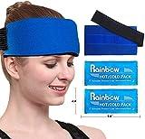 Set di 2 Cuscinetto premium Riutilizzabile Gel Caldo e Freddo con Wrap Terapia di Compressione - Per dolori alle ginocchia, spalle, caviglie, Flexible e Regolabile per Lesioni Muscolari