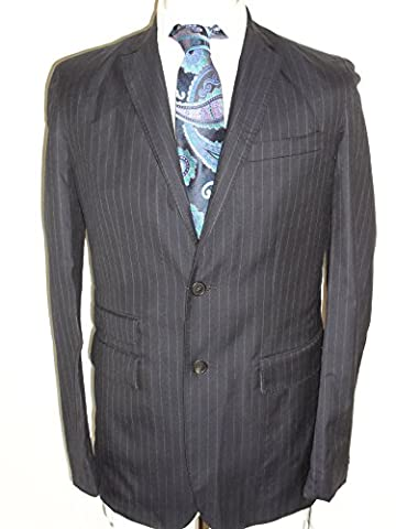 Nicole Farhi Men's Pinstripe Suit. (C40 W32, Navy Blue)