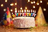 #8: Happy Birthday Party Decorations Supplies, Happy Birthday Banners, Candles,Party Blowouts, Latex Party Balloons(LED Balloons,Rabbit Balloons), Party Decoration Pack (Happy Birthday Alphabet Candles)