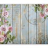 murando - Fototapete Blumen 400x280 cm - Vlies Tapete - Moderne Wanddeko - Design Tapete - Wandtapete - Wand Dekoration - Bretter 10110906-78