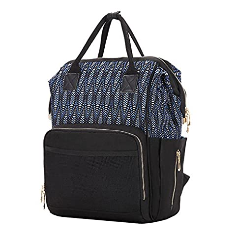 BigForest Maternity Multifunctional Mummy Sac ¨¤ dos with Jacquard Travel Tote Bag Baby Diaper sac ¨¤ main Nappy Changing Bag