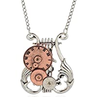 SaySure - Classic Clock Models Steampunk Necklace Vintage