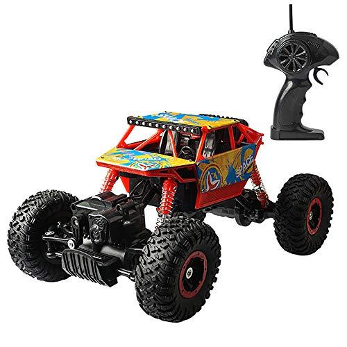 WANGOFUN Funkfernsteuerungsauto, 2,4 GHz 4WD Prretty High Speed Elektro-Rennwagen Off-Road-Rock-Crawler-LKW-Fahrzeug mit starker Kraftaufhängungsfeder
