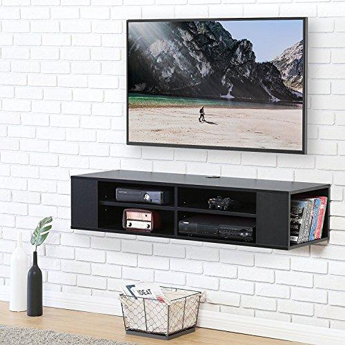 Fitueyes legno mobile porta tv per audio video nero ds212002wb