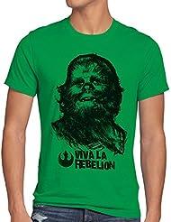 style3 Viva La Rebelion Camiseta para hombre T-Shirt guevara revolución