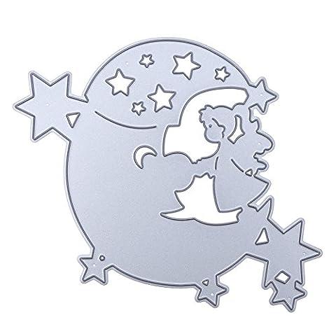 La Cabina Cutting Dies Matrice de Découpe Stencil Métallique DIY Bricolage Artisanat Scrapbooking (Ange dans la lune)
