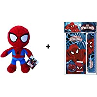 Spiderman: Peluche de Spiderman 30 cm + Set de papeleria MV92379